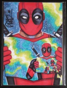 SIGNED Scott Blair Deadpool Print! 5.5x7 NM MARVEL X-Men