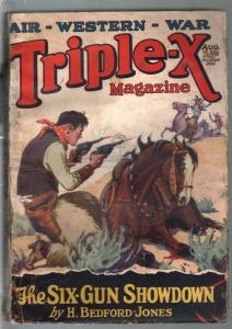 Triple-X Magazine 8/1928-Fawcett-Air-War Western-H Bedford-Jones-G