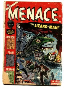 Menace #8-comic book 1953-Atlas Classic End of the world story. Pre-Code Horror