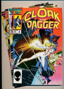 Marvel Comics-LOT OF 4-CLOAK AND DAGGER #6,8,10,11 1986  F/VF (PF938)