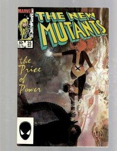 New Mutants # 25 VF/NM Marvel Comic Book X-Men Wolverine Legion Warlock SM19