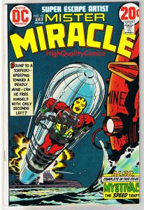 MISTER MIRACLE #12, VF, Jack Kirby, 4th World, 1971,more JK in store,Bronze age