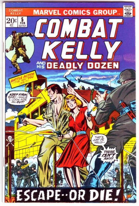 Combat Kelly and His Deadly Dozen #5 (Feb-73) FN/VF+ Mid-High-Grade Combat Ke...
