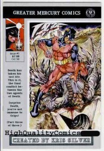 GRIPS #5, Vol 2, VF/NM, GMC,1990, Guns , Blood, Gore, Indy,