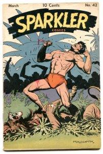 Sparkler #42 1945-Tarzan by Hogarth- Sparkman VG