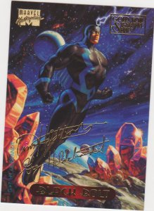 1994 Marvel Masterpieces Gold Foil Signature Series #5 Black Bolt/Hildrebrandt