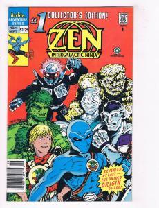 Zen Intergalactic Ninja #1 Archie Adventure Series Comic Book Sept DE37 TW7