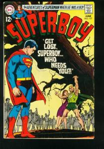 SUPERBOY #157 1968-DC SILVER AGE-GREAT COVER-VG