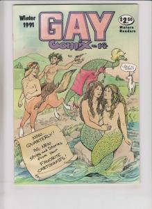 Gay Comix #14 VF/NM underground - roberta gregory - howard cruse - stan shaw