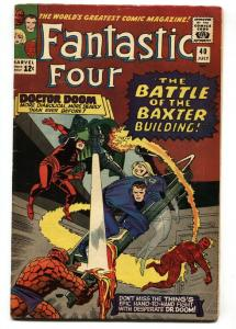 FANTASTIC FOUR #40 1965-DR DOOM-DAREDEVIL-JACK KIRBY VG