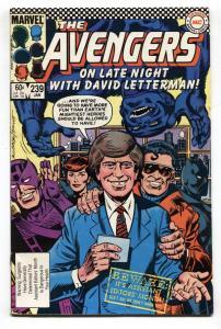 AVENGERS #239-Marvel Comic Book DAVID LETTERMAN-VF