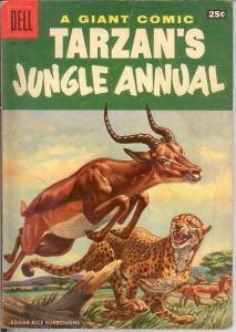 TARZANS JUNGLE ANNUAL 5 VG-F DELL GIANT  1956 COMICS BOOK