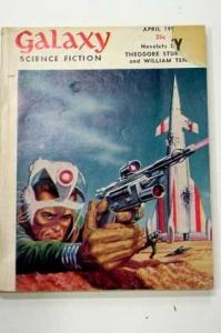 GALAXY SCI-FI-APR 1955-RETRO ROCKET CVR VG/FN