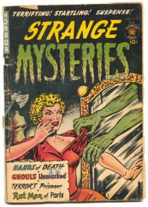 Strange Mysteries #4 1952- Rat Me of Paris- Headlight cover G-