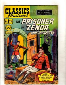 Classics Illustrated 76 HRN 75 FN Gilberton Comic Book Man Prisoner Zenda JL26