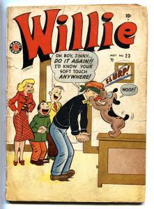WILLIE #23 1950-MARVEL COMICS-BOY KISSING DOG COVER G