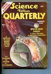 SCIENCE FICTION QUARTERLY-#1-SUM 1940-PULP FICTION-SOUTHERN STATES PEDIGREE-fn