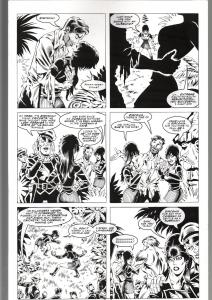 RONN SUTTON ELVIRA #148 ORIGINAL ART PAGE 14-BLACKHAWK PARODY--QUEEN 'B PROD FN