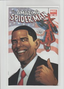 Amazing Spider-Man #583 NM- (2009, Marvel) RARE Obama 4th Print!!!