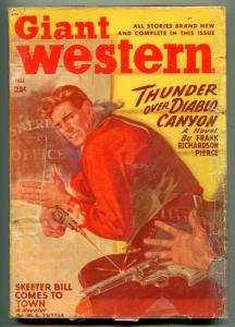 GIANT WESTERN FALL 1948-THRILLING-PULP WESTERN-W C TUTTLE-GUN FIGHT COVER-vg