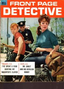 FRONT PAGE DETECTIVE 1985 DEC GUN MOLL TOMMY-GUN COVER VG