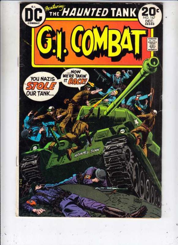 G.I. Combat #167 (Dec-73) VG/FN Mid-Grade The Haunted Tank