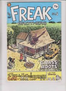 Freak Brothers #5 FN knockabout comics british import - gilbert shelton 1977 75p
