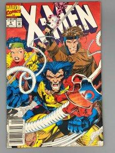 X-MEN #4 (1992) NEWSSTAND RARE KEY 1ST app OMEGA RED WOLVERINE GAMBIT