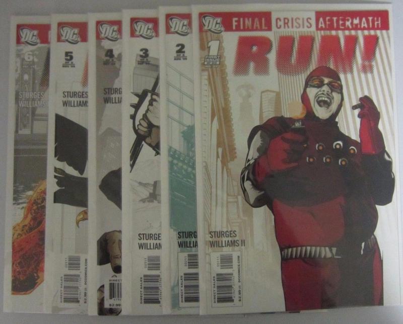 Final Crisis Aftermath Run (2009 DC) #1-6 Set - 8.0 VF - 2009