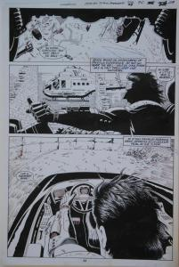 PAUL GULACY original art, MARVEL COMICS PRESENTS #28 pg 24, 11x16, Coldblood