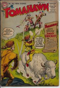 Tomahawk #35 1955-DC-1st Young Davy Crockett-White Buffalo-VG-