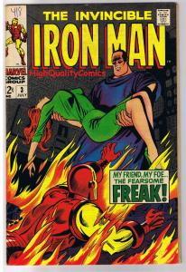 IRON MAN #3, VF+, Freak, Johnny Craig, Movie, 1968, more Silver age in store