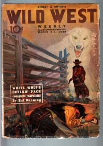 WILD WEST WEEKLY 3/4/1939-WESTERN PULP-WHITE WOLF VG