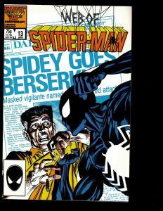 12 Web Of Spider-Man Marvel Comics # 13 14 15 18 19 20 22 23 24 25 26 29 JF3
