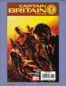 Captain Britain and MI13 #6 FN Black Knight Front/Back Cover Scans Marvel 2008