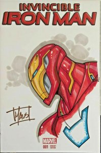 Invincible Iron Man #1 Signed & Remarked by Bill Maus Dynamic Forces W/COA NM.