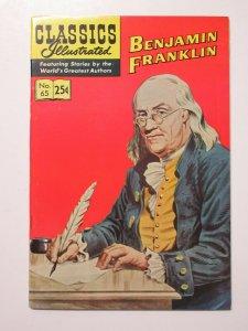Classics Illustrated- 65 Benjamin Franklin HRN 169 Autumn 1969 VF