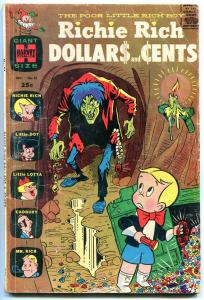 RICHIE RICH DOLLARS AND CENTS #21 1967-HARVEY COMICS G