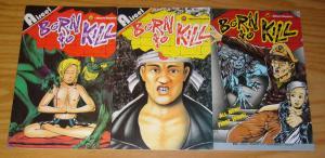 Born To Kill #1-3 FN complete series - aircel comics - barry blair horror set 2