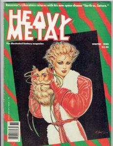 Heavy Metal Magazine Winter 1988 Friedman Prado Torres Chaland Olivia