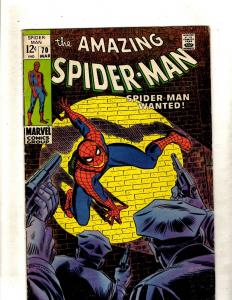 Amazing Spider-Man # 70 VG/FN Marvel Comic Book Stan Lee Goblin Kraven Rhino FM2