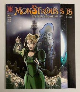 Monstrous Heartbreak And Blood Loss #1-3 Set Source Point Press 2021 9.0+