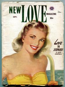 New Love Magazine Pulp September 1952- Love in Jeopardy VG