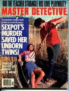 Master Detective 9/1978-TD Pub-spicy babe-strangulationpitchfork-VG