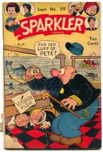Sparkler Comics #59 1946- Tarzan- Golden Age F/G