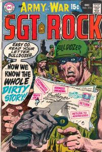 Our Army at War #213 (Dec-69) FN+ Mid-High-Grade Easy Company, Sgt. Rock