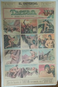 Tarzan Sunday Page #618 Burne Hogarth from 1/10/1943 in Spanish! Full Page Size
