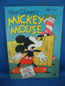 FOUR COLOR 79 MICKEY MOUSE VF BARKS SCARCE RIDDLE OF THE RED HAT 1945