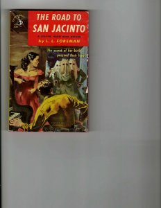 3 Books The Road to San Jacinto With Naked Foot Men Against the Sea Mystery JK8