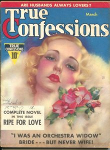 True Confessions 7/1939-Zoe Mozert cover-1st Heart Throb Series-scandals-G/VG